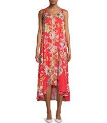 johnny was women's abeline floral dress - orange multicolor - size xxs