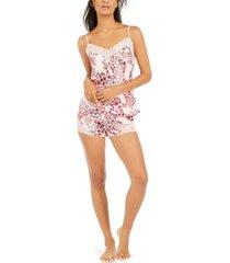 josie women's lace-trim cami & short pajama set
