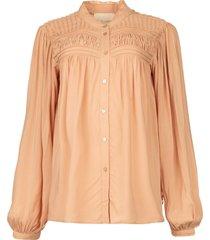 blouse met plooidetails cara  roze