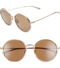 women's salt. audrey 56mm polarized round sunglasses - honey brown/ gold