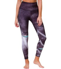 onzie women's graphic high waisted 7/8 yoga leggings - bronze tie dye x-small spandex