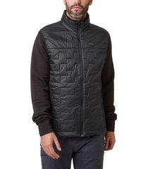 men's helly hansen liftaloft(tm) hybrid water- & wind-resistant insulator vest, size small - black