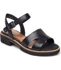 woms sandals shoes summer shoes flat sandals svart tamaris