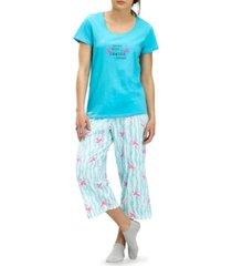 hue flamingo capri pajama pants set