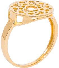 anel chacra sahasrara em ouro