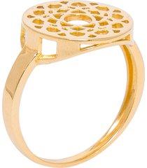 anel feminino chacra sahasrara em ouro