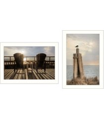 """trendy decor 4u by the sea collection by lori deiter, printed wall art, ready to hang, white frame, 20"""" x 14"""""""