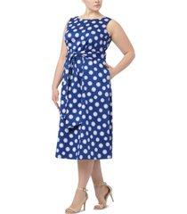 anne klein plus size flapper daisy-print midi dress