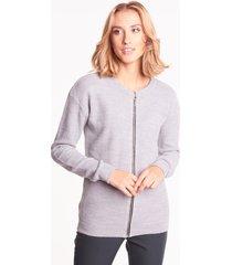 szary sweter z suwakiem luna