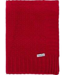 manta cobertor de berço tricô tamine luxo vermelho.. - kanui
