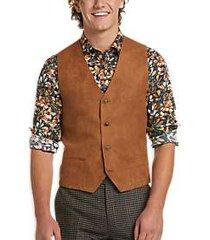 paisley & gray slim fit suit separates vest cognac