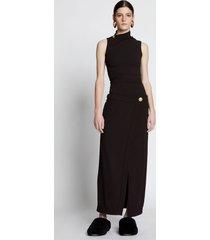 proenza schouler stretch crepe twisted wrap dress black 4
