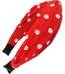 tasha polka dot headband, size one size - red