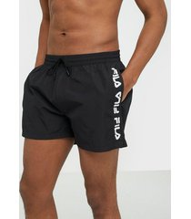 fila men sho swim shorts badkläder black