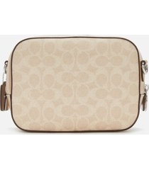 coach women's coated canvas signature camera bag - sand taupe