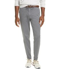 men's brunello cucinelli solid stretch cotton dress pants, size 52 eu - grey