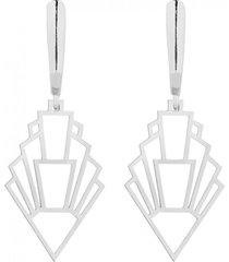 kolczyki srebrne z rozetkami