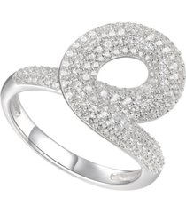 1 ct. t.w. round shape diamond ring in 14k white gold