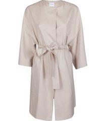agnona light pink cashmere coat