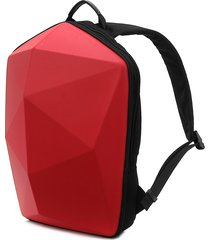 uomini polygon travel borsa solid casual backpack