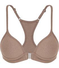 sutiã nadador em cotton dica de lingerie chocolate - fg04