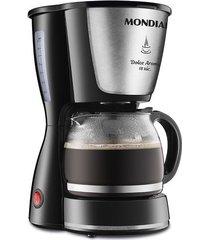 cafeteira elétrica corta pingo mondial dolce arome preta 18 xícaras - 127v