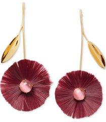 kate spade new york gold-tone stone & fringe poppy drop earrings