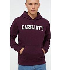 carhartt wip hooded college sweat tröjor shiraz