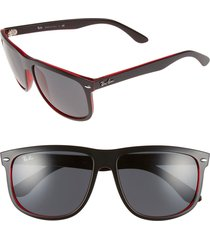 ray-ban boyfriend 60mm flat top sunglasses in black at nordstrom