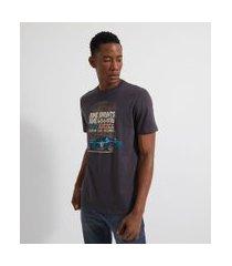 camiseta manga curta estampa carro de corrida | marfinno | cinza | egg