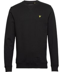 crew neck sweatshirt sweat-shirt trui zwart lyle & scott