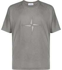 stone island reflective logo t-shirt - grey
