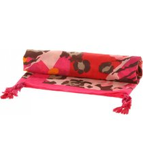 pareo animal print fucsia humana