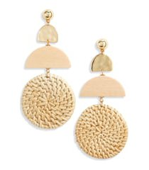 women's ettika raffia drop earrings