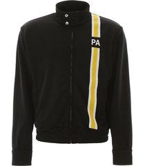 palm angels zip-up sweatshirt with initials