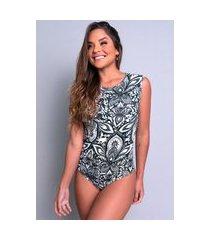 body mvb modas camiseta collant suplex estampado mandala