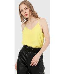 blusa amarillo active