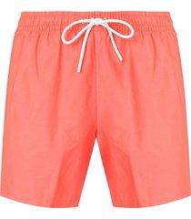 lacoste drawstring waist swim shorts - orange