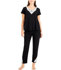 charter club applique pajama set, created for macy's