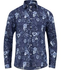 skjorta aop flower shirt l/s