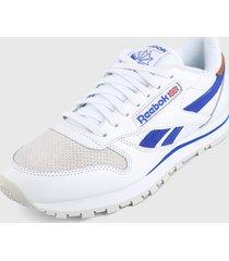 tenis lifestyle blanco-azul reebok classics classics leather