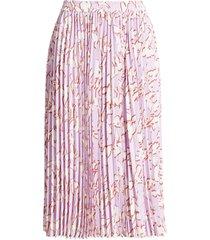 women's halogen pleated chiffon skirt, size x-large - purple