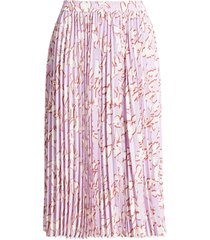 women's halogen pleated chiffon skirt, size x-large - purple