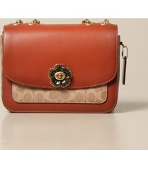 coach crossbody bags madison coach shoulder bag in leather and canvas