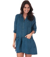 only womens klinn lyocell denim shirt dress size 12 in blue