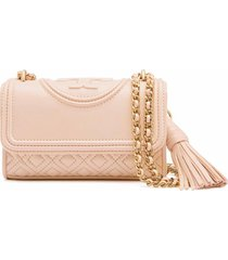 authentic tory burch fleming micro shoulder bag