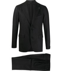 tagliatore single-breasted straight leg suit - grey