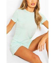 basic t-shirt & short set, mint