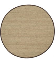 safavieh natural fiber natural and dark brown 6' x 6' sisal weave round area rug