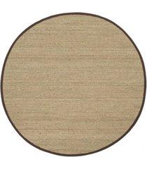 safavieh natural fiber natural and dark brown 6' x 6' sisal weave round area rug